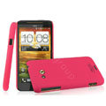 IMAK Ultrathin Matte Color Covers Hard Cases for HTC X720d One XC - Rose (High transparent screen protector)