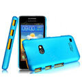 IMAK Ultrathin Matte Color Covers Hard Cases for Samsung i8530 Galaxy Beam - Blue (High transparent screen protector)