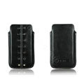 PIERVES Leather Cases Rivets Holster Covers for Samsung i8530 Galaxy Beam - Black