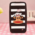 Paul Frank TPU Soft Cases Skin Covers for Samsung i8530 Galaxy Beam - Black