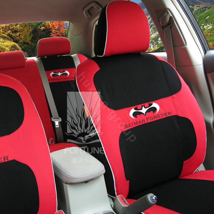 buy wholesale fortune batman forever autos car seat covers for 2012 toyota rav4 red from. Black Bedroom Furniture Sets. Home Design Ideas