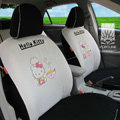 FORTUNE Hello Kitty Autos Car Seat Covers for 2011 Toyota Highlander 7 Seats - Apricot
