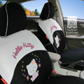 FORTUNE Hello Kitty Autos Car Seat Covers for 2011 Toyota Highlander 7 Seats - Black