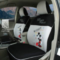 FORTUNE Mickey Mouse Autos Car Seat Covers for 2011 Toyota Highlander 5 Seats - Gray