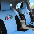 FORTUNE Racing Car Autos Car Seat Covers for 2011 Toyota Highlander 5 Seats - Blue