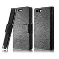 IMAK Slim leather Cases Luxury Holster Covers for Sony Ericsson ST27i Xperia Go - Black