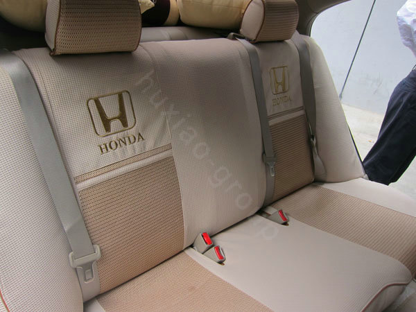 buy wholesale fortune honda logo gem velvet autos car seat covers for honda civic wagon beige. Black Bedroom Furniture Sets. Home Design Ideas
