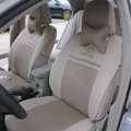 FORTUNE Toyota Logo Gem velvet Autos Car Seat Covers for 2010 Toyota Highlander 7 Seats - Gray