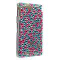 Bling Rhinestone Crystal Cases Covers for Sony Ericsson ST27i Xperia Go - Rose