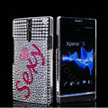 Bling Sexy Rhinestone Crystal Cases Covers for Sony Ericsson LT26i Xperia S - White