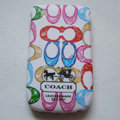 Coach Painting Hard Cases Skin Covers for BB BlackBerry 8520 - White