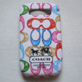 Coach Painting Hard Cases Skin Covers for BB BlackBerry 8900 - White