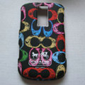 Coach Painting Hard Cases Skin Covers for BB BlackBerry 9000 - Black