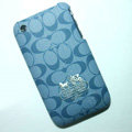 Coach Painting Hard Cases Skin Covers for iPhone 3G/3GS - Blue