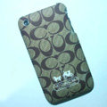 Coach Painting Hard Cases Skin Covers for iPhone 3G/3GS - Brown