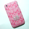 Coach Painting Hard Cases Skin Covers for iPhone 3G/3GS - Pink