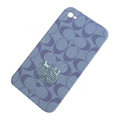 Coach Painting Hard Cases Skin Covers for iPhone 4G/4S - Purple