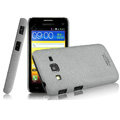 IMAK Cowboy Shell Quicksand Hard Cases Covers for Samsung B9062 - Gray (High transparent screen protector)