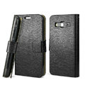 IMAK Slim leather Cases Holster Covers for Samsung B9062 - Black