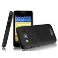 IMAK Ultrathin Matte Color Covers Hard Cases for Samsung B9062 - Black (High transparent screen protector)