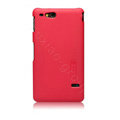 Nillkin Super Matte Hard Cases Skin Covers for Sony Ericsson ST27i Xperia Go - Red (High transparent screen protector)
