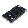 ROCK Jewel Hard Cases Skin Covers for Sony Ericsson ST27i Xperia Go - Black (High transparent screen protector)