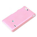 ROCK Jewel Hard Cases Skin Covers for Sony Ericsson ST27i Xperia Go - Pink (High transparent screen protector)