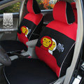FORTUNE Baby Milo Bape Autos Car Seat Covers for Honda Civic LX Coupe - Red