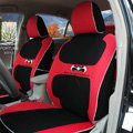 FORTUNE Batman Forever Autos Car Seat Covers for Honda Civic DX Hatchback - Red