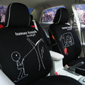 FORTUNE Human Touch Heart Window Autos Car Seat Covers for Honda Civic Hatchback - Black