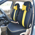 VV diamond mesh+100% Cotton Autos Car Seat Covers for BMW 128i - Black + Yellow