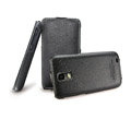 IMAK Luxury Holster Covers Slim leather Cases for Samsung i929 Galaxy S II DUOS - Black