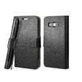 IMAK Slim leather Cases Luxury Holster Covers for Samsung B9062 - Black