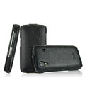 IMAK Slim leather Cases Luxury Holster Covers for Samsung Galaxy Ace S5830 i579 - Black