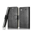 IMAK Slim leather Cases Luxury Holster Covers for Samsung I8250 - Black