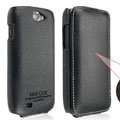 IMAK Slim leather Cases Luxury Holster Covers for Samsung i8150 Galaxy W - Black