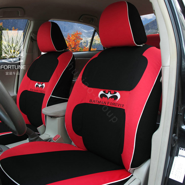 buy wholesale fortune batman forever autos car seat covers for honda civic sedan red from. Black Bedroom Furniture Sets. Home Design Ideas