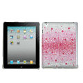 Bling Crystal Cases Diamond Rhinestone Hard Covers for iPad 2 / The New iPad - Pink