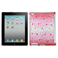Bling Crystal Cases Diamond Rhinestone Hard Covers for iPad 2 / The New iPad - Red