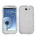 Bling Crystal Cover Rhinestone Diamond Cases For Samsung Galaxy S III 3 i9300 I9308 - White