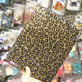 Bling Swarovski Leopard covers diamond crystal hard cases for iPad 2 / The New iPad - Brown