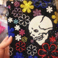 Bling Swarovski Skull covers diamond crystal hard cases for iPad 2 / The New iPad - Black