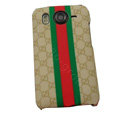 GUCCI Hard Cases Color Covers for HTC Desire HD G10 A9191 A9192 - Brown