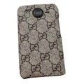 GUCCI Hard Cases Color Covers for HTC Desire HD G10 A9191 A9192 - Coffee