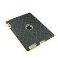 Gucci Leather Cases Hard Skin Covers for iPad 2 / The New iPad - Black