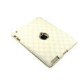 Gucci Leather Cases Hard Skin Covers for iPad 2 / The New iPad - White