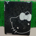 Hello kitty Bling Crystal Cases Diamond Rhinestone Hard Covers for iPad 2 / The New iPad - Black