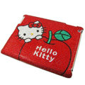 Hello kitty Bling Crystal Cases Diamond Rhinestone Hard Covers for iPad 2 / The New iPad - Red