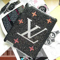 LV Louis Vuitton Bling Crystal Cases Diamond Rhinestone Covers for iPad 2 / The New iPad - Black