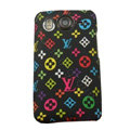 LV Louis Vuitton Hard Cases Color Covers for HTC Desire HD G10 A9191 A9192 - Black